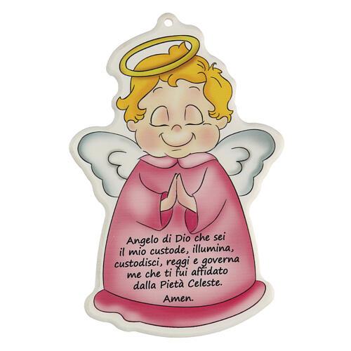 angelo-di-dio-quadretto-sagomato-rosa